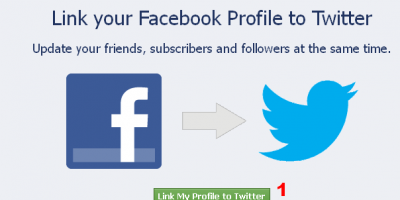 Link Facebook profile to Twitter