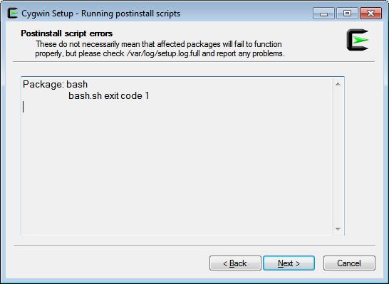 Postinstall script errors