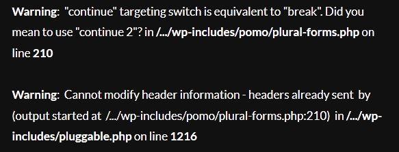 WordPress Plural Form Error