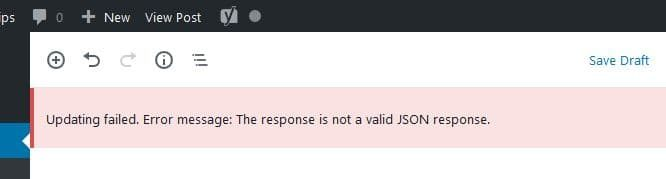 Cloudflare WordPress JSON error