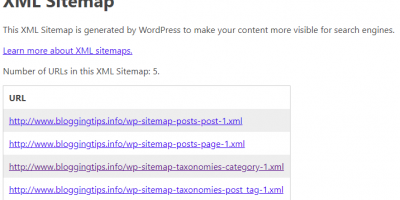 WordPress 5.5 sitemap
